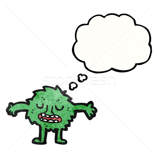 cartoon furry green monster Stock photo © lineartestpilot
