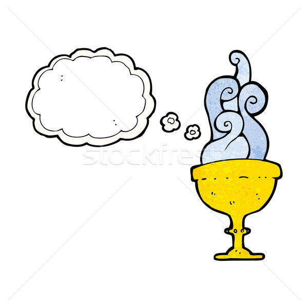 cartoon goblet with thought bubble Stock photo © lineartestpilot