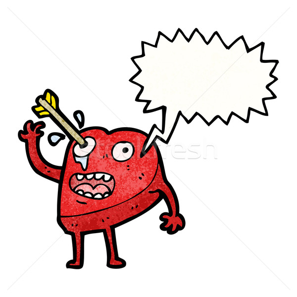 love struck heart cartoon character Stock photo © lineartestpilot