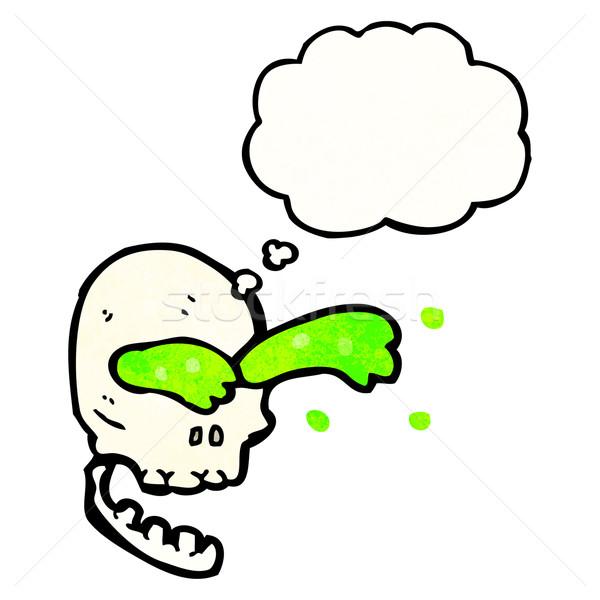 スライム 頭蓋骨 漫画 レトロな バルーン 図面 ストックフォト © lineartestpilot