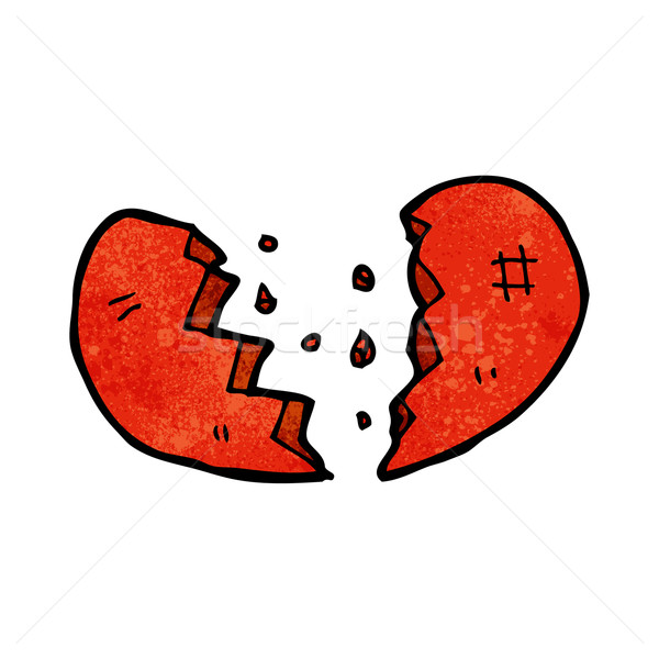 broken heart symbol Stock photo © lineartestpilot