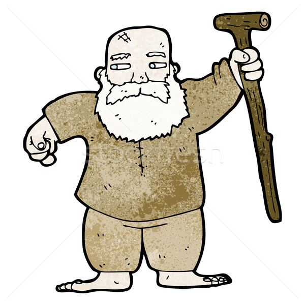 cartoon biblical style father man Stock photo © lineartestpilot