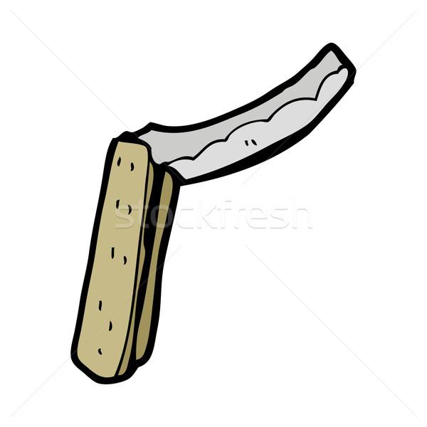 Rajz borotva kéz terv őrült gemkapocs Stock fotó © lineartestpilot