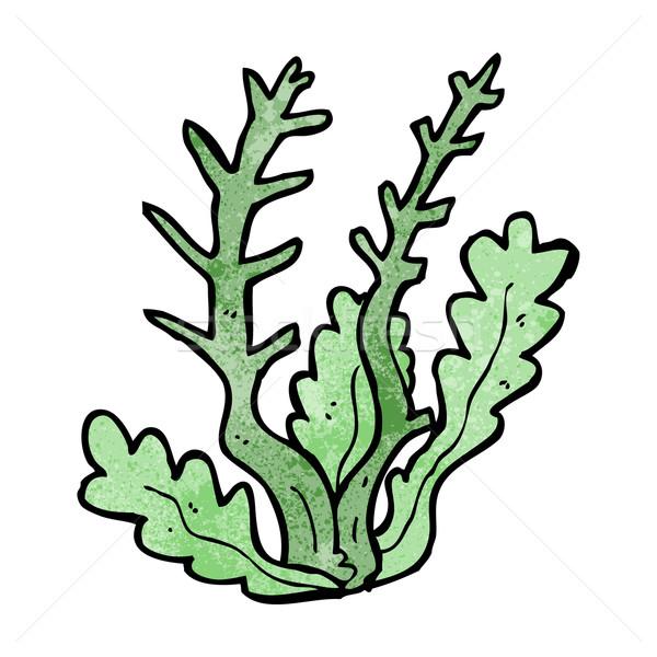 Karikatür deniz yosunu dizayn sanat Retro komik Stok fotoğraf © lineartestpilot