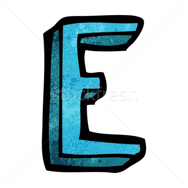 Cartoon письме дизайна искусства знак ретро Сток-фото © lineartestpilot