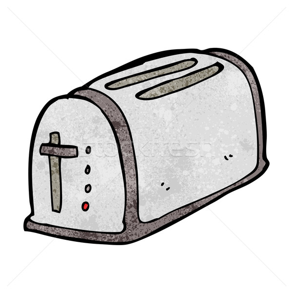 Cartoon toaster ontwerp kunst retro grappig Stockfoto © lineartestpilot