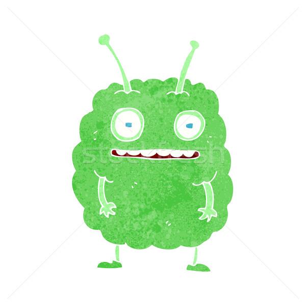 Desenho animado engraçado alienígena monstro mão projeto Foto stock © lineartestpilot