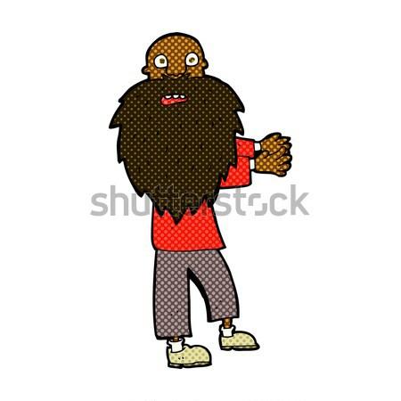 Cómico Cartoon barbado viejo retro Foto stock © lineartestpilot
