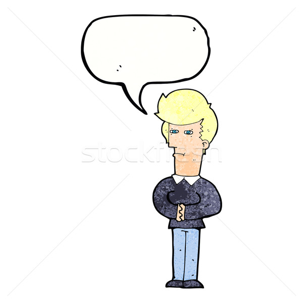 Cartoon человека глазах речи пузырь стороны дизайна Сток-фото © lineartestpilot