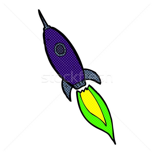 Cómico Cartoon astronave retro estilo Foto stock © lineartestpilot