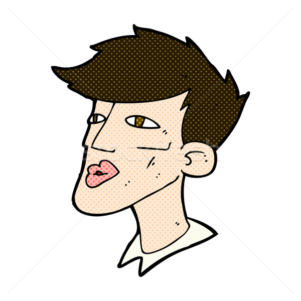 comic cartoon male model guy Stock photo © lineartestpilot