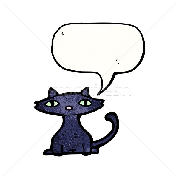 黒猫 吹き出し 漫画 テクスチャ 手 幸せ ストックフォト © lineartestpilot