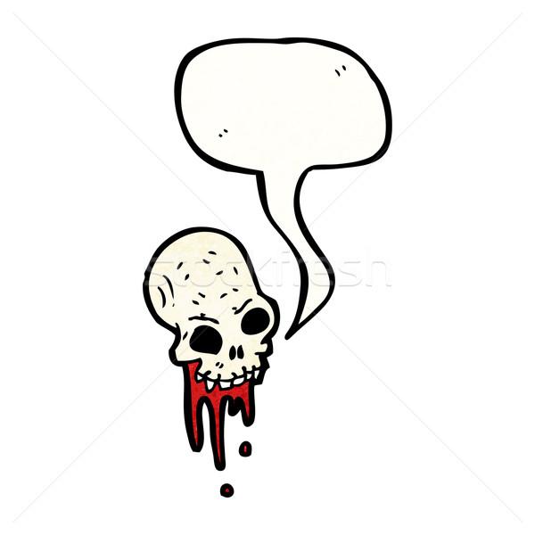 gross blood dripping cartoon skull Stock photo © lineartestpilot