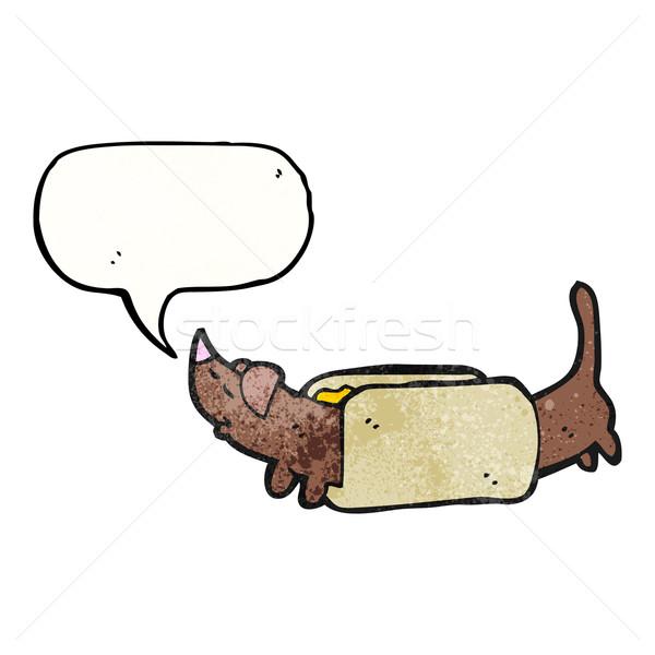 Cartoon хот-дог искусства ретро рисунок колбаса Сток-фото © lineartestpilot