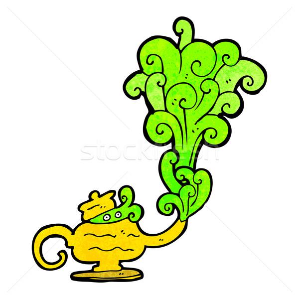 genie in lamp cartoon Stock photo © lineartestpilot