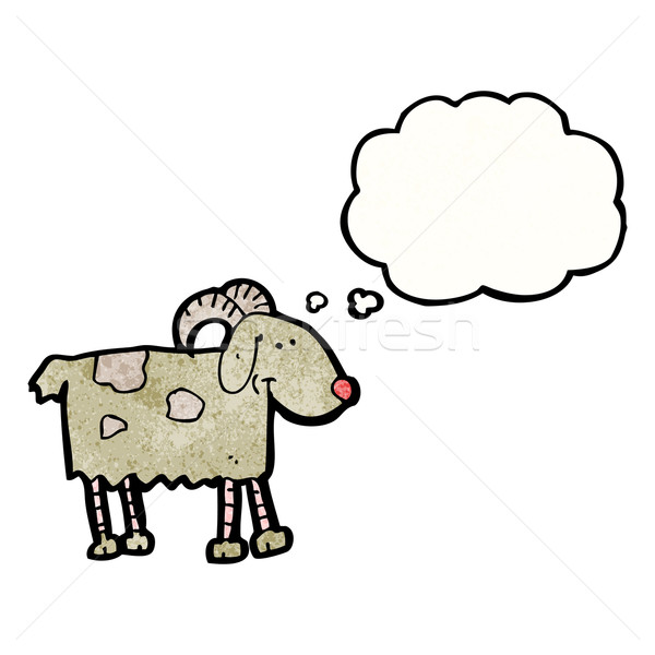 cartoon goat with though bubble Stock photo © lineartestpilot