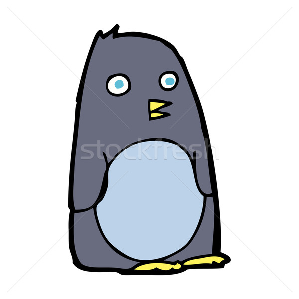 Stock photo: cartoon penguin