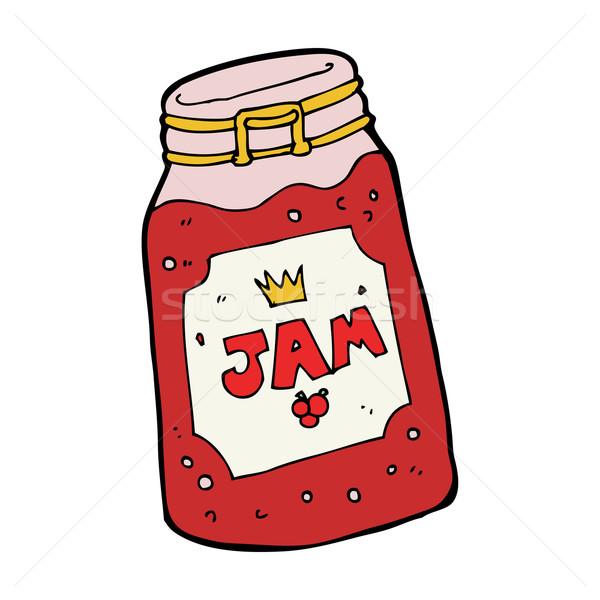 cartoon jar of jam Stock photo © lineartestpilot