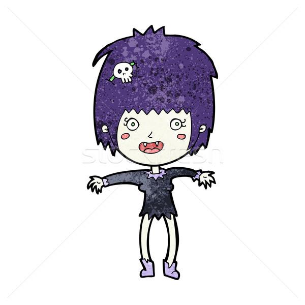 Desenho animado vampiro menina mulher feliz projeto Foto stock © lineartestpilot
