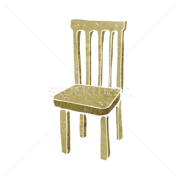 cartoon wooden chair Stock photo © lineartestpilot
