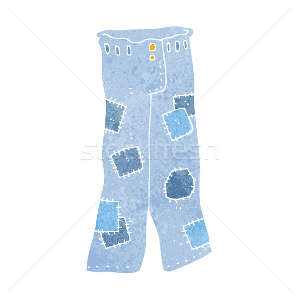 cartoon patched old jeans Stock photo © lineartestpilot