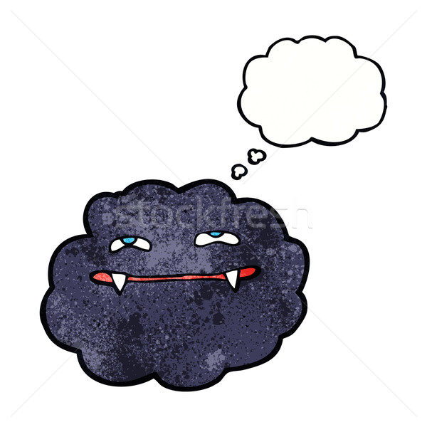cartoon vampire cloud with thought bubble Stock photo © lineartestpilot