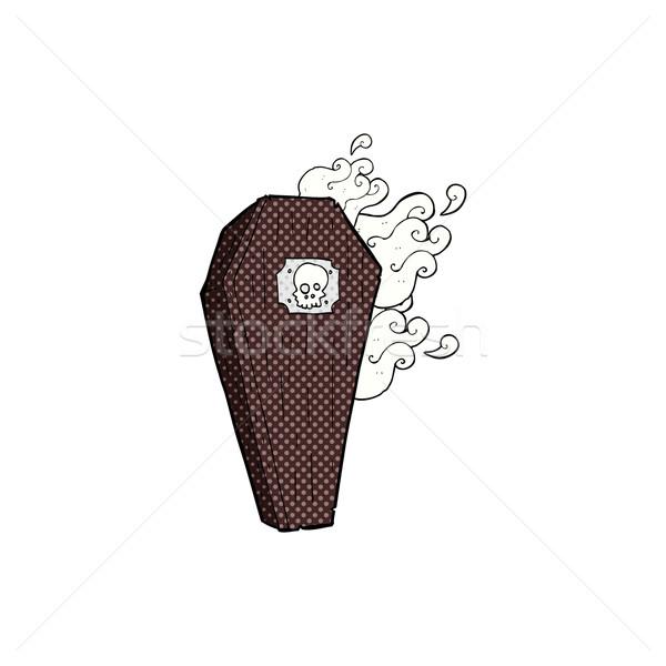 Komik karikatür tabut Retro Stok fotoğraf © lineartestpilot