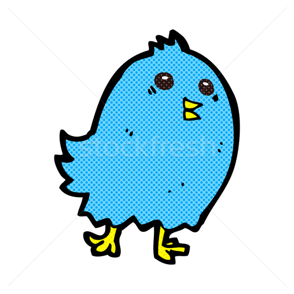comic cartoon bluebird Stock photo © lineartestpilot