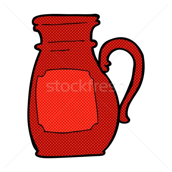 Cómico Cartoon jarra retro estilo Foto stock © lineartestpilot