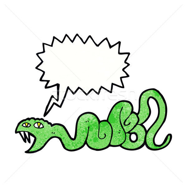 cartoon snake with speech bubble Stock photo © lineartestpilot