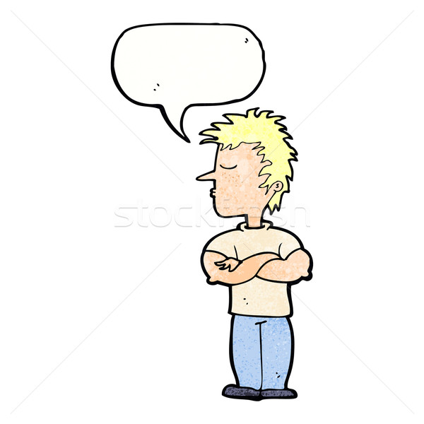 cartoon man refusing to listen with speech bubble Stock photo © lineartestpilot