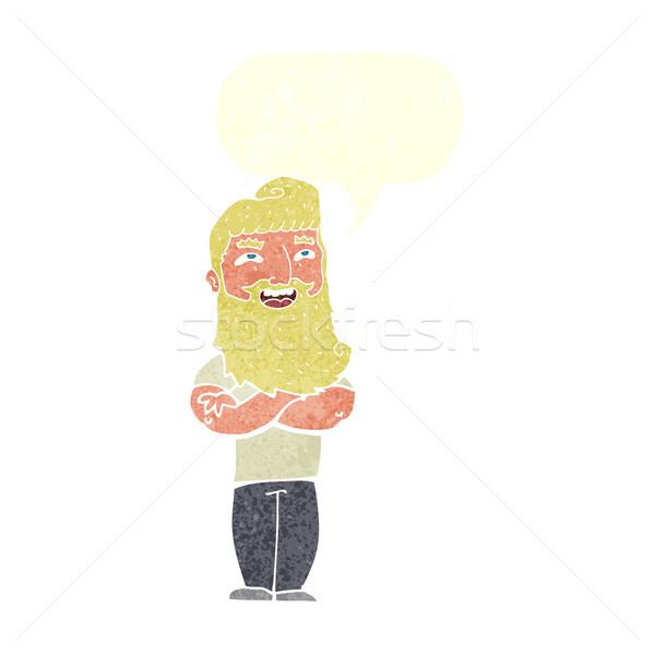 漫画 誇りに思う 男 吹き出し 手 デザイン ストックフォト © lineartestpilot