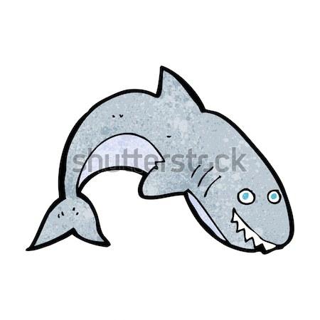 Képregény rajz cápa retro képregény stílus Stock fotó © lineartestpilot