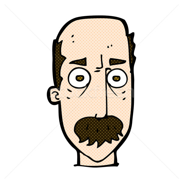 comic cartoon man with mustache Stock photo © lineartestpilot