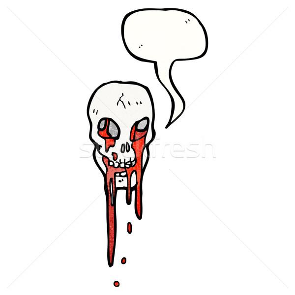 skull with speech bubble cartoon Stock photo © lineartestpilot