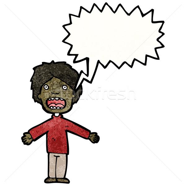 cartoon boy making excuses Stock photo © lineartestpilot