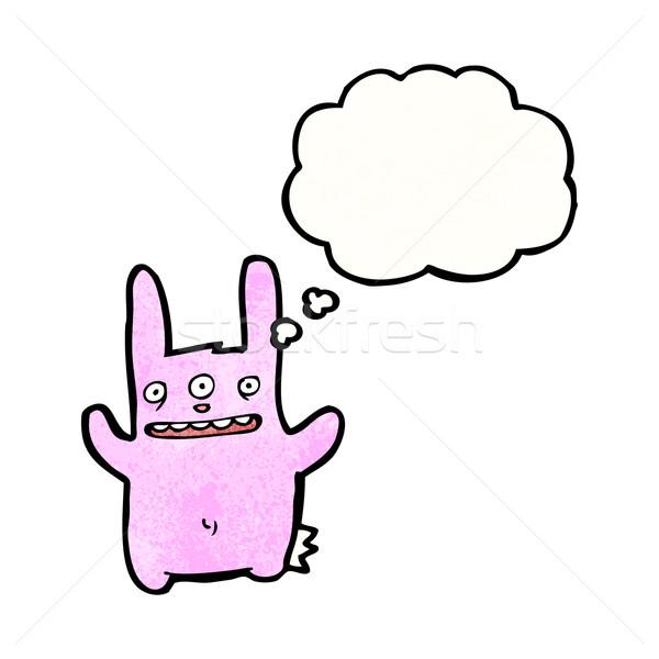 Cartoon trois lapin lapin rétro dessin Photo stock © lineartestpilot