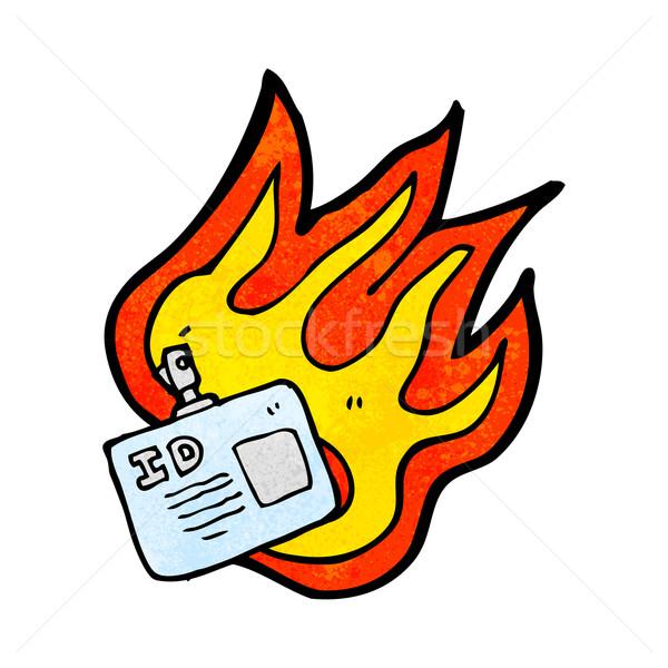 燃焼 イド タグ 漫画 レトロな テクスチャ ストックフォト © lineartestpilot