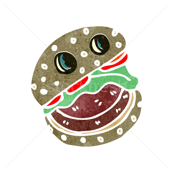 retro cartoon burger Stock photo © lineartestpilot