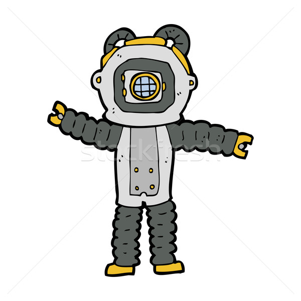 cartoon deep sea diver Stock photo © lineartestpilot