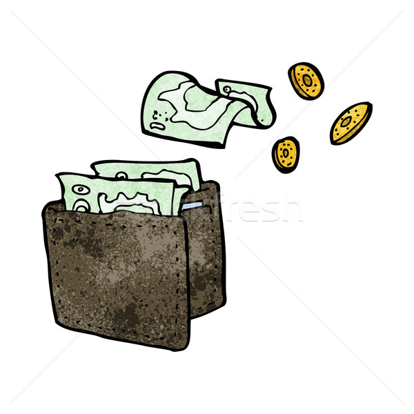 cartoon wallet spilling money Stock photo © lineartestpilot