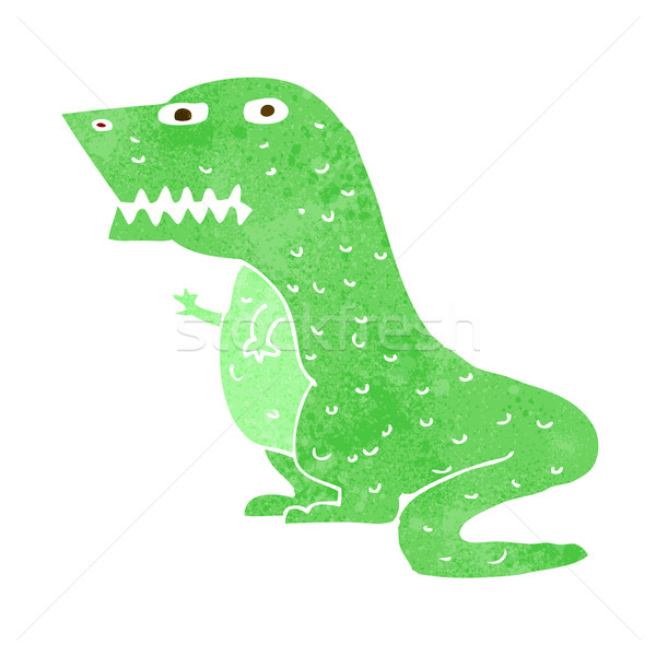 Cartoon динозавр дизайна искусства ретро смешные Сток-фото © lineartestpilot