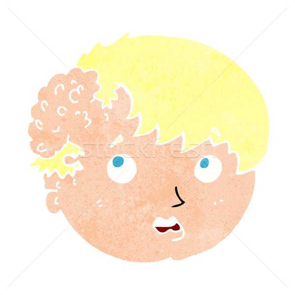 Cartoon ragazzo brutto crescita testa mano Foto d'archivio © lineartestpilot