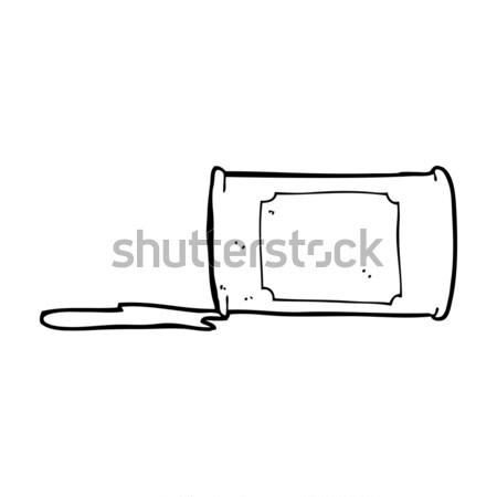 comic cartoon spilled oil Stock photo © lineartestpilot
