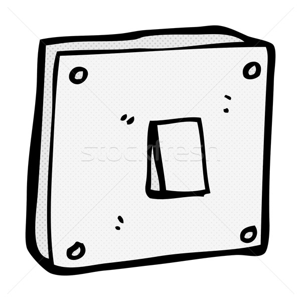 comic cartoon light switch Stock photo © lineartestpilot