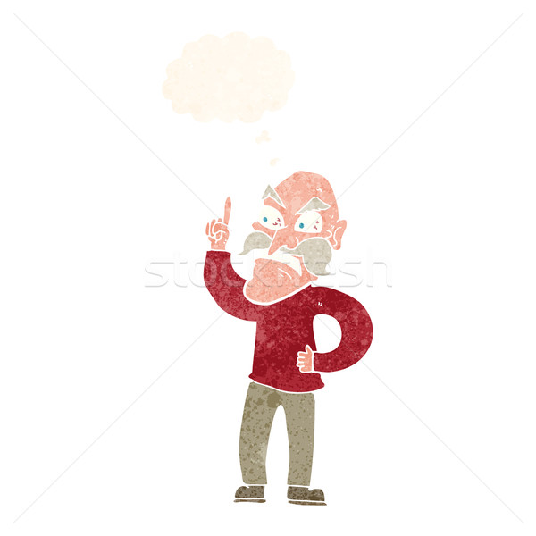cartoon old man laying down rules with thought bubble Stock photo © lineartestpilot