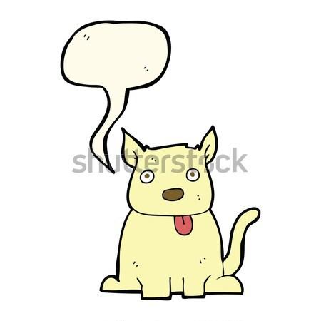 Cartoon felice cane bolla di pensiero mano design Foto d'archivio © lineartestpilot