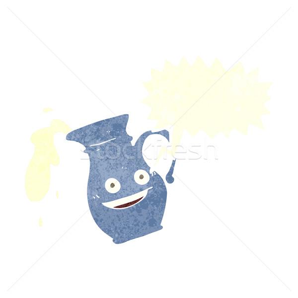 Rajz tejesflakon szövegbuborék kéz terv tej Stock fotó © lineartestpilot