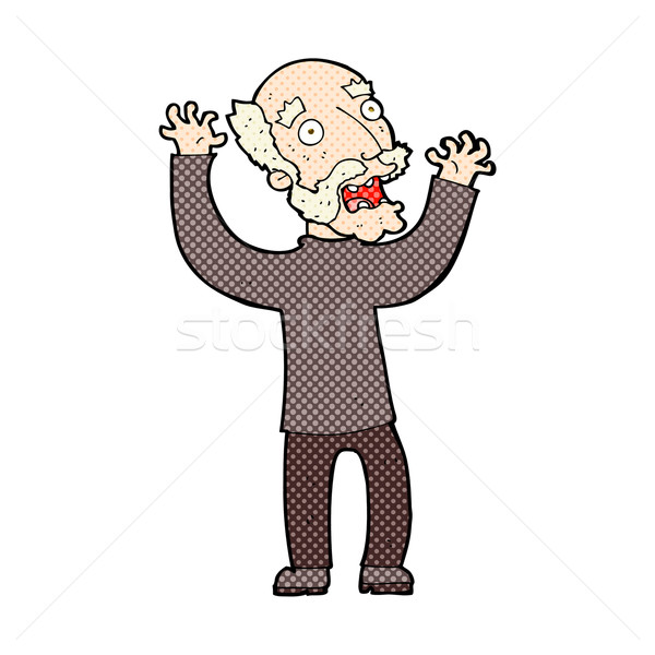 comic cartoon terrified old man Stock photo © lineartestpilot