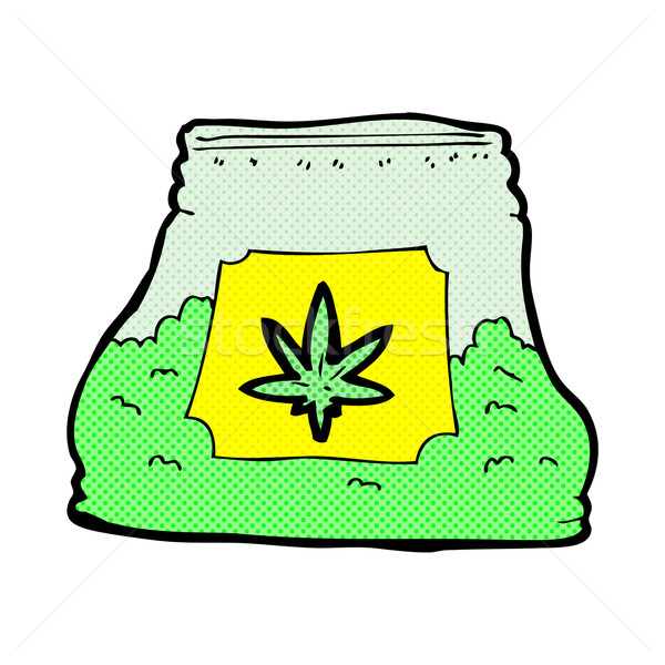 comic cartoon bag of weed Stock photo © lineartestpilot